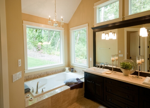 A frame can give your bathroom mirror a whole new look.
