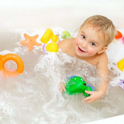 A kid-friendly bathroom can grow to suit their changing needs.