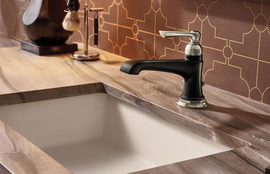 Brizo Nickel and Matte Black Faucet Design