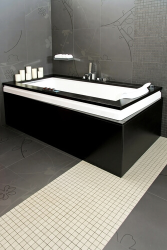 For something different, give your bathroom an industrial design.
