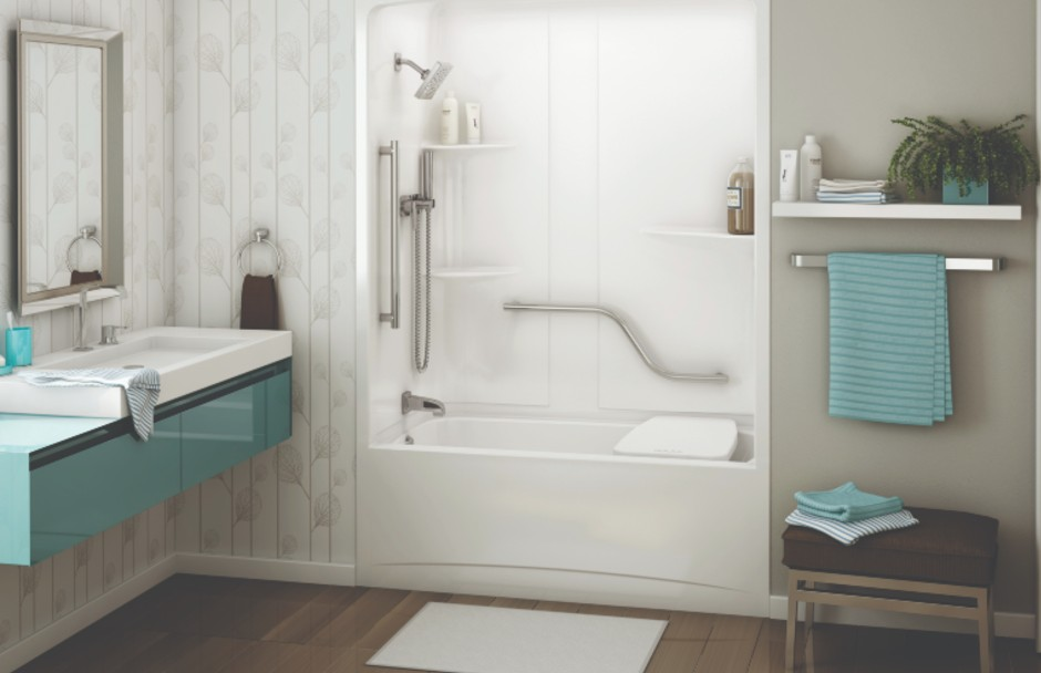 MAAX Allia Tub Shower Combination With Safety Rail