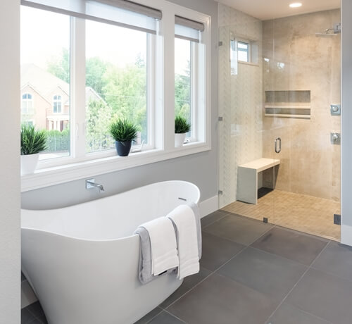 The home bathroom can contain a space for getting ready.