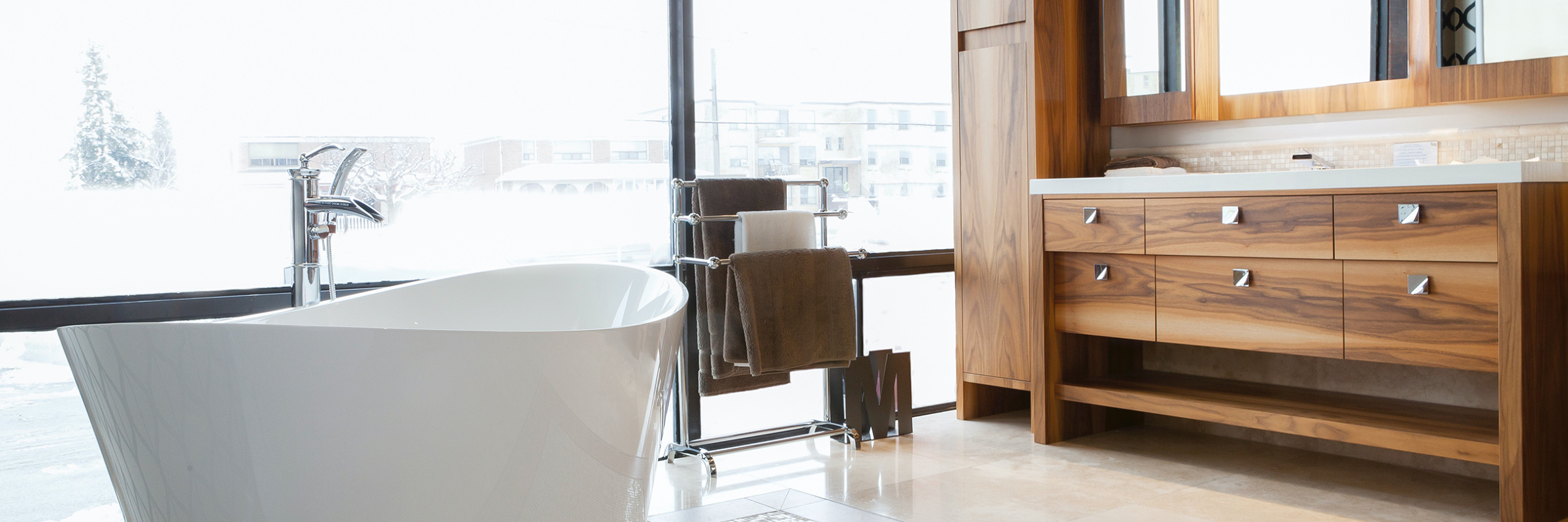 Bathroom samples in Kitchen and Bath Showrooms