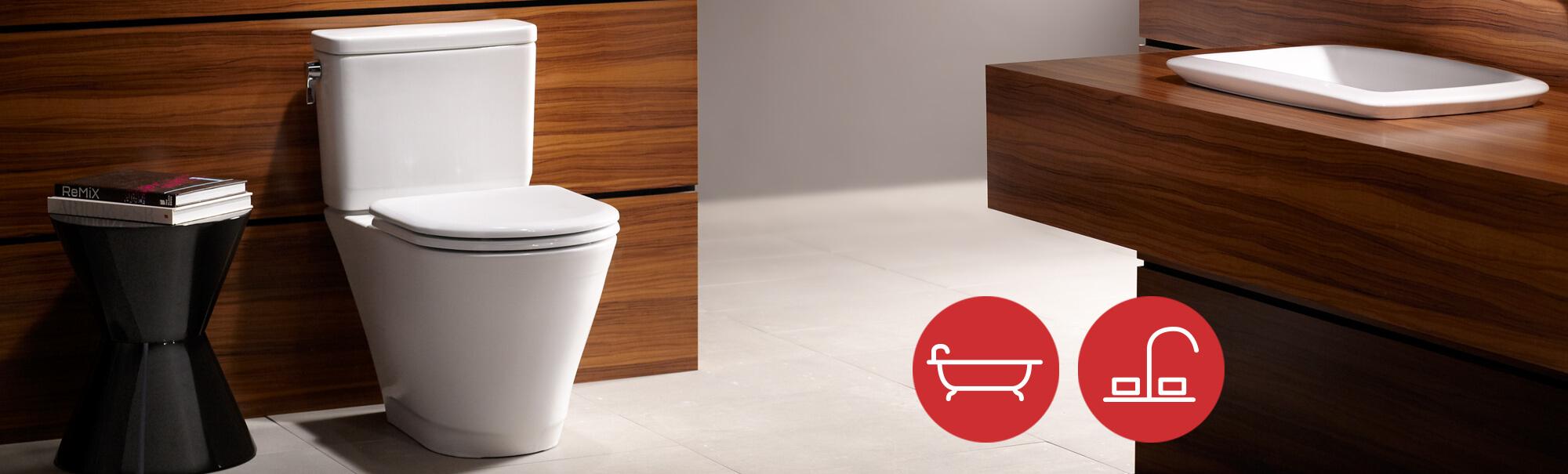 Low-flush toilet