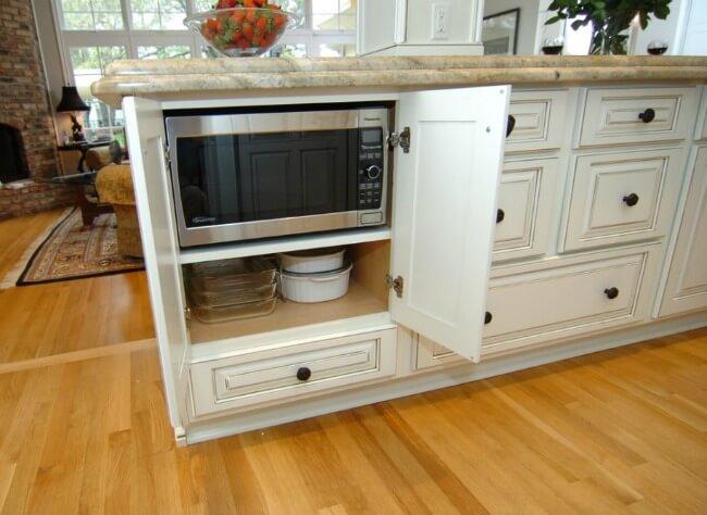 Microwave In Island In Kitchen - Kitchen Ideas
